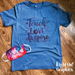 Teach Love Inspire, Tee & Mask Set