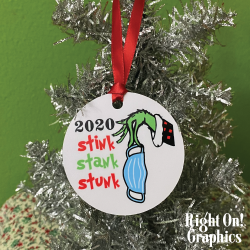 "2.75"" Stink Stank Stunk Round Metal Ornament"