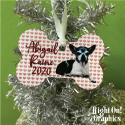 Metal Dog Bone Ornament